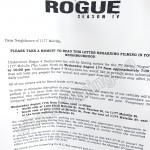 Rogue Filming Notice August 17, 2018 at Loden Hotel on Melville St Vancouver
