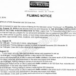 Legion Filming Notice August 18-19, 2016 Alexander St & Gore St in Vancouver