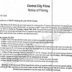 The Flash Filming Notice August 18, 2016 1000 W Hastings, Marine Building & 1070 W Pender