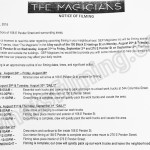 The Magicians Filming Notice August 29-September 2, 2016 E Pender St & E Hastings St in Vancouver