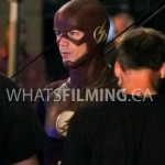 Grant Gustin in between takes