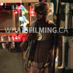 The Flash arrives on scene with several feet of rope