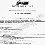 Legends of Tomorrow Filming Notice September 2, 2016 at Hotel Georgia in Vancouver