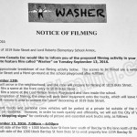 Wonder Filming Notice September 13, 2016 at 1019 Bute St & Lord Roberts Elementary School in Vancouver