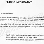 iZombie Filming Notice October 5, 2016 at The Imperial on Main St in Vancouver