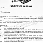 iZombie Filming Notice October 5, 2016 at 328 Powell St in Vancouver