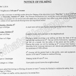 Pop Star Filming Notice October 6, 2016 at 65 E 6th Ave in Vancouver