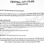 The Flash Filming Notice October 28th at 400 Hamilton St & Victory Square in Vancouver