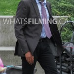 Jesse L. Martin arriving on set