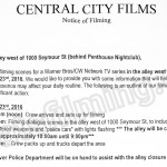 The Flash Filming Notice November 23, 2016 at Penthouse Nightclub on Seymour St in Vancouver