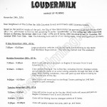 Loudermilk Filming Notice November 28-29, 2016 at The Coffee Bar & El Santo on Columbia St in New Westminster