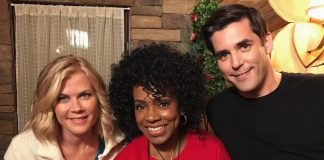 Christmas at Holly Lodge stars Alison Sweeney, Sheryl Lee Ralph and Jordan Bridges