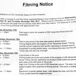 The X-Files Filming Notice for November 15-16, 2017 at Burrard Ironworks on Alexander Street in Vancouver
