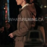 Caitlin Snow (Danielle Panabaker) filming a scene for The Flash season 3 episode 13 in Vancouver