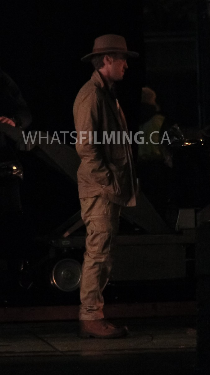 Julian Albert (Tom Felton) dressed a bit like Indiana Jones while filming a scene for The Flash season 3 episode 13 in Vancouver