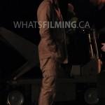Julian Albert (Tom Felton) dressed a bit like Indiana Jones while filming a scene for The Flash season 3 episode 13 in Vancouver